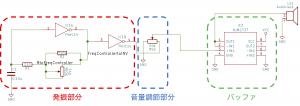 矩形波オシレータの回路説明図