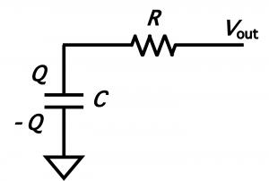 抵抗とコンデンサの回路図