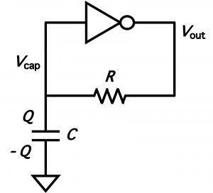 オシレータの発振部分の回路図