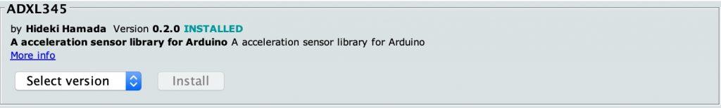 ADXL345 external library.